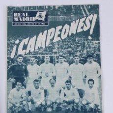 Collectionnisme sportif: REVISTA OFICIAL REAL MADRID, Nº 143, ABRIL 1962, TIENE 32 PGS. PROFUSAMENTE ILUSTRADAS Y CON PUBLICI. Lote 76934873