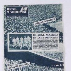 Collectionnisme sportif: REVISTA OFICIAL REAL MADRID, Nº 166, MARZO 1964, TIENE 32 PGS. PROFUSAMENTE ILUSTRADAS Y CON PUBLICI. Lote 76938005