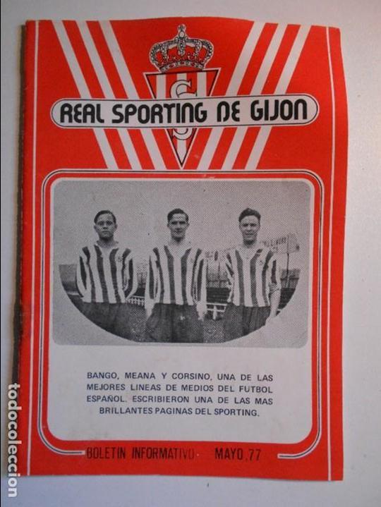 REAL SPORTING DE GIJON. BOLETIN INFORMATIVO. Nº 27. MAYO, 77. (Coleccionismo Deportivo - Revistas y Periódicos - otros Fútbol)