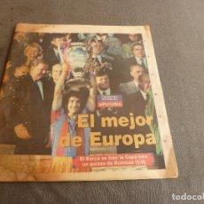 Collectionnisme sportif: (MS)EL PERIÓDICO(21-5-92)!!!POR FIN BARÇA CAMPEÓN COPA EUROPA!!!WEMBLEY F.C.BARCELONA 1 SAMPDORIA 0.. Lote 77294329