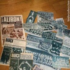 Coleccionismo deportivo: LOTE DEL BARÇA DE DIARIOS DEPORTIVOS Y RECORTES VARIOS DE LOS 60 Y 70 .. Lote 77352741