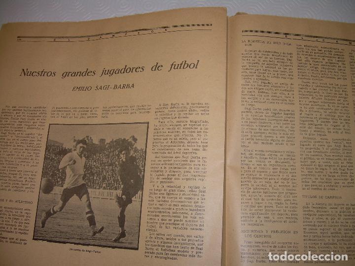Coleccionismo deportivo: ONCE REVISTAS....DE..EL CAMPEON. - Foto 23 - 56857642