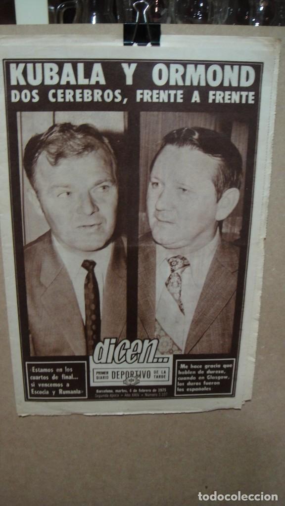 PERIODICO DEPORTIVO DICEN - FEBRERO DE 1975 - KUBALA Y ORMOND (Coleccionismo Deportivo - Revistas y Periódicos - otros Fútbol)