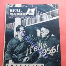 Coleccionismo deportivo: BOLETIN REVISTA OFICIAL REAL MADRID 1956 Nº 66 EQUIPOS COPA DE EUROPA 55/56 PARTIZAN BELGRADO. Lote 79871137