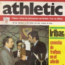 Coleccionismo deportivo: REVISTA OFICIAL INFORMACIÓN DEL ATHLETIC CLUB BILBAO. POSTER VIDAL. AÑOS 70. Nº 28. IRIBAR. FÚTBOL.. Lote 79923301