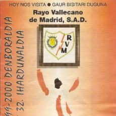 Collectionnisme sportif: PROGRAMA PARTIDO ATHLETIC CLUB-RAYO VALLECANO. SAN MAMES. TEMPORADA 1999/2000. JORNADA 32. FÚTBOL.. Lote 79987389