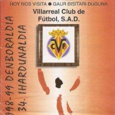Collectionnisme sportif: PROGRAMA PARTIDO ATHLETIC CLUB-VILLARREAL. SAN MAMES. TEMPORADA 1998/1999. JORNADA 34. FÚTBOL.. Lote 80024041