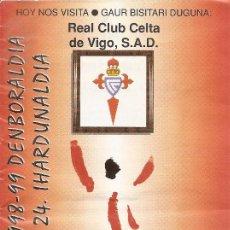 Coleccionismo deportivo: PROGRAMA PARTIDO ATHLETIC CLUB-REAL CLUB CELTA DE VIGO. TEMPORADA 1998/1999. JORNADA 24. FÚTBOL.. Lote 80024565