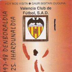 Collectionnisme sportif: PROGRAMA PARTIDO ATHLETIC CLUB-VALENCIA CLUB DE FÚTBOL. TEMPORADA 1997/1998. JORNADA Nº 25. FÚTBOL.. Lote 80027929