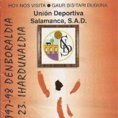 Collectionnisme sportif: PROGRAMA PARTIDO ATHLETIC CLUB-UNIÓN DEPORTIVA SALAMANCA.TEMPORADA 1997/1998. JORNADA Nº 23. FÚTBOL.. Lote 80028185
