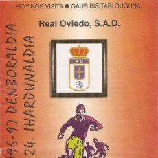 Collectionnisme sportif: PROGRAMA PARTIDO ATHLETIC CLUB- REAL OVIEDO S.A.D. TEMPORADA 1996/1997. JORNADA Nº 24. FÚTBOL.. Lote 80030669