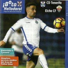 Coleccionismo deportivo: CD TENERIFE-ELCHE CF.4/2/2017.Nº 95.¡BOTA HELIODORO!TYRONNE,RACHID Y SHIBASAKI.. Lote 80146137