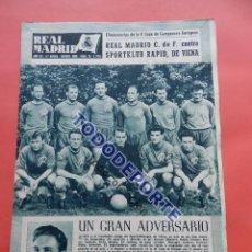 Coleccionismo deportivo: BOLETIN REVISTA OFICIAL REAL MADRID 1956 Nº 76 RAPID VIENA COPA DE EUROPA 56/57-MANCHESTER UNITED. Lote 80069257