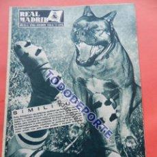 Coleccionismo deportivo: BOLETIN REVISTA OFICIAL REAL MADRID 1956 Nº 77 RAPID VIENA COPA DE EUROPA 56/57-WITTAKER-MAN UTD. Lote 80082477