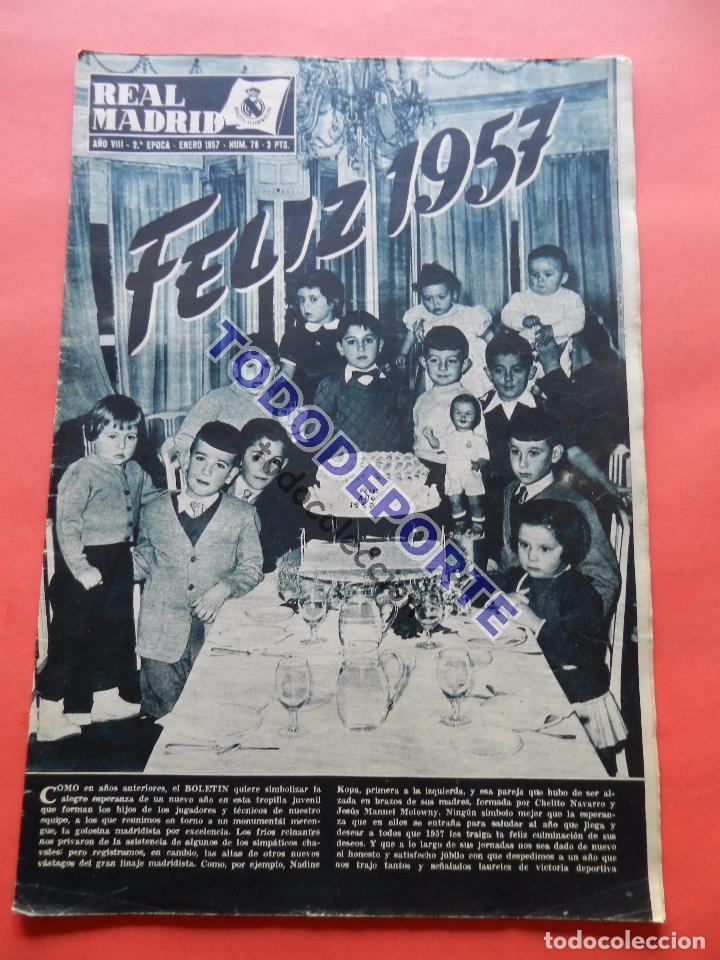 BOLETIN REVISTA OFICIAL REAL MADRID 1957 Nº 78 RAPID VIENA COPA DE EUROPA 56/57-NIZA-MIGUEL MUÑOZ (Coleccionismo Deportivo - Revistas y Periódicos - otros Fútbol)
