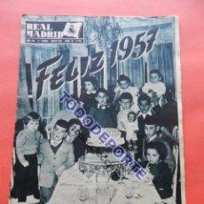 Coleccionismo deportivo: BOLETIN REVISTA OFICIAL REAL MADRID 1957 Nº 78 RAPID VIENA COPA DE EUROPA 56/57-NIZA-MIGUEL MUÑOZ. Lote 80083481