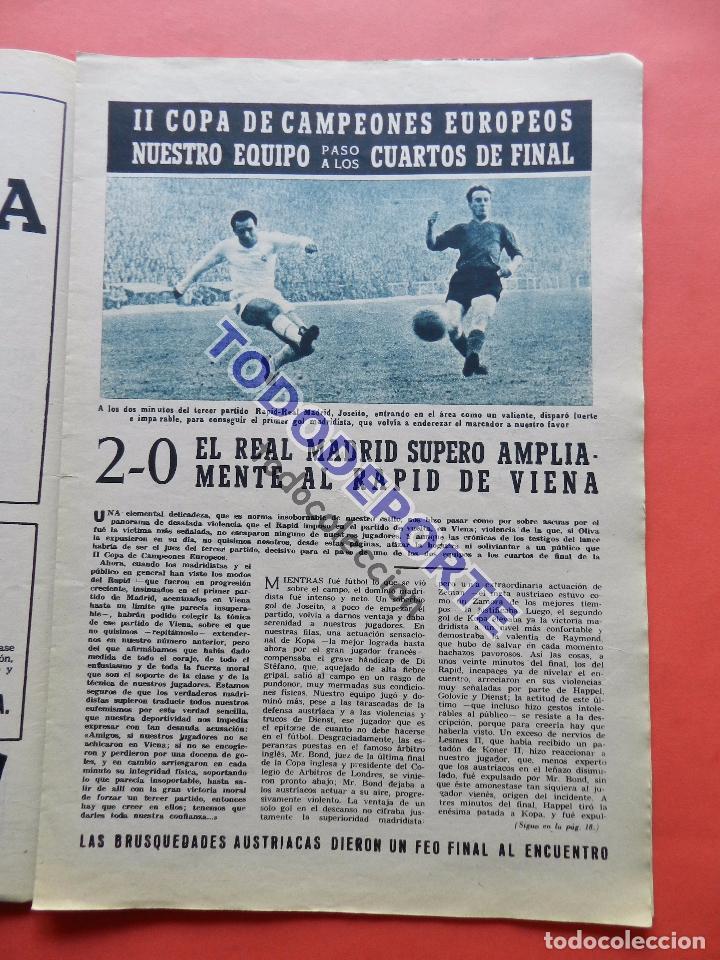 Coleccionismo deportivo: BOLETIN REVISTA OFICIAL REAL MADRID 1957 Nº 78 RAPID VIENA COPA DE EUROPA 56/57-NIZA-MIGUEL MUÑOZ - Foto 5 - 80083481
