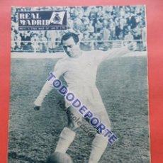 Coleccionismo deportivo: BOLETIN REVISTA OFICIAL REAL MADRID 1957 Nº 80 NIZA COPA DE EUROPA 56/57 MANCHESTER UNITED ATHLETIC. Lote 80092349
