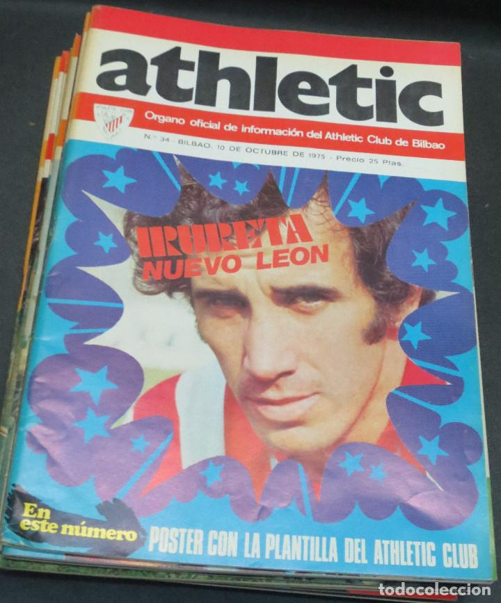 REVISTA ATHLETIC Nº 34 10 OCTUBRE 1975 EN PORTADA IRURETA NUEVO LEÓN (Coleccionismo Deportivo - Revistas y Periódicos - otros Fútbol)