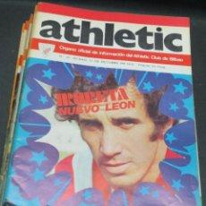 Coleccionismo deportivo: REVISTA ATHLETIC Nº 34 10 OCTUBRE 1975 EN PORTADA IRURETA NUEVO LEÓN. Lote 80103785