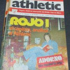Coleccionismo deportivo: REVISTA ATHLETIC Nº 27 10 MARZO 1975 EN PORTADA ROJO EL CAPITÁN ANALIZA AL ATHLETIC. Lote 80105765