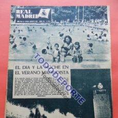 Coleccionismo deportivo: BOLETIN REVISTA OFICIAL REAL MADRID 1957 Nº 85 POSTER HOMENAJE CAMPEONES 56/57. Lote 80299765