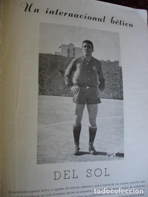 Coleccionismo deportivo: EL BETIS CAMPEON HOMENAJE ASCENSO A PRIMERA 1957-58.GRAN FOLIO FOTOS BUEN ESTADO EN GENERAL - Foto 4 - 80445873