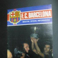 Colecionismo desportivo: C.F. BARCELONA (BARÇA). BOLETIN OFICIAL INFORMATIVO .Nº 42. SEPTIEMBRE 1974. . Lote 80456721