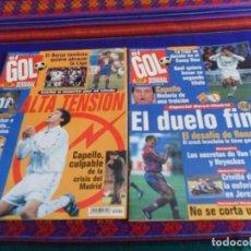 Coleccionismo deportivo: EL GOL SEMANAL NºS 1, 2, 4, 7 Y 10. AÑO 1997. PÓSTER REAL MADRID CAMPEÓN Y RAÚL. BUEN ESTADO.. Lote 66223978