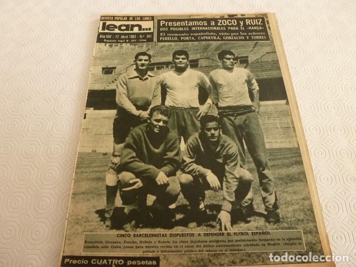 (ML)LEAN(17-4-61)PROX.GALES-ESPAÑA,IGNACIO ZOCO,TRAS EL BARÇA-HAMBURGO COPA EUROPA,POBLET CAMPEÓN. (Coleccionismo Deportivo - Revistas y Periódicos - otros Fútbol)