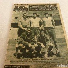 Coleccionismo deportivo: (ML)LEAN(17-4-61)PROX.GALES-ESPAÑA,IGNACIO ZOCO,TRAS EL BARÇA-HAMBURGO COPA EUROPA,POBLET CAMPEÓN.. Lote 80803871
