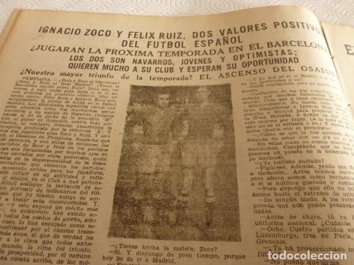 Coleccionismo deportivo: (ML)LEAN(17-4-61)PROX.GALES-ESPAÑA,IGNACIO ZOCO,TRAS EL BARÇA-HAMBURGO COPA EUROPA,POBLET CAMPEÓN. - Foto 5 - 80803871