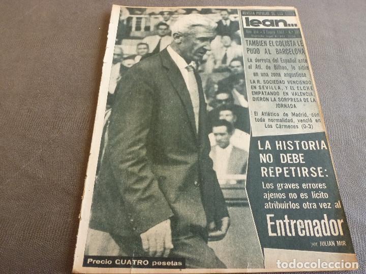 (ML)LEAN(2-1-61)OVIEDO 1 BARÇA 0,ESPAÑOL 0 ATH.BILBAO 1,SABADELL 2 BASCONIA 1,3ª DIV.CATALANA (Coleccionismo Deportivo - Revistas y Periódicos - otros Fútbol)