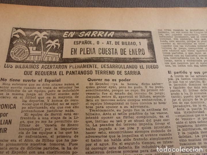 Coleccionismo deportivo: (ML)LEAN(2-1-61)OVIEDO 1 BARÇA 0,ESPAÑOL 0 ATH.BILBAO 1,SABADELL 2 BASCONIA 1,3ª DIV.CATALANA - Foto 3 - 81067720