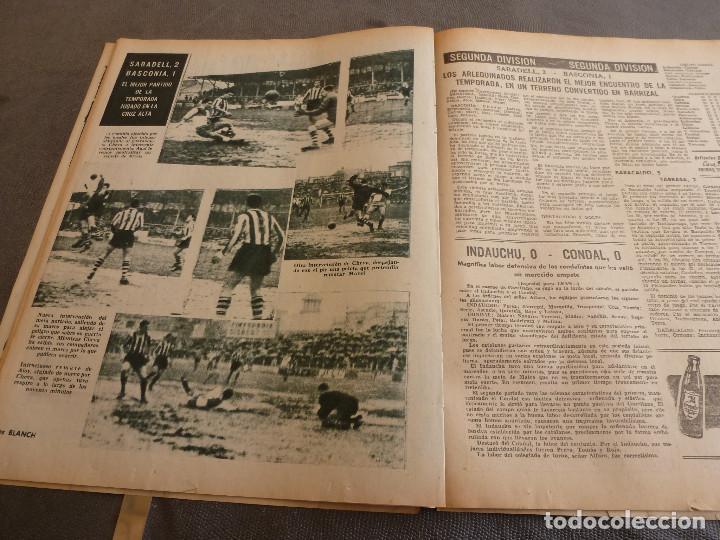 Coleccionismo deportivo: (ML)LEAN(2-1-61)OVIEDO 1 BARÇA 0,ESPAÑOL 0 ATH.BILBAO 1,SABADELL 2 BASCONIA 1,3ª DIV.CATALANA - Foto 7 - 81067720