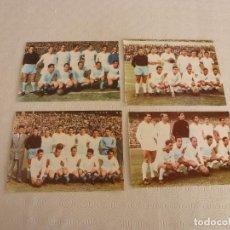 Coleccionismo deportivo: RECORTES SATINADOS EQUIPO REAL MADRID CAMPÉON LIGA TEMPORADAS 53-54,54-55,56-57 Y 57-58.. Lote 81351144