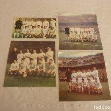 Coleccionismo deportivo: RECORTES SATINADOS EQUIPO REAL MADRID CAMPÉON LIGA TEMPORADAS 64-65,66-67,67-68 Y 68-69.. Lote 81358496
