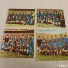 Coleccionismo deportivo: BARÇA RECORTES SATINADOS EQUIPO F.C.BARCELONA CAMPÉON LIGA TEMPORADAS 51-52,52-53,58-59 Y 59-60.. Lote 81359784
