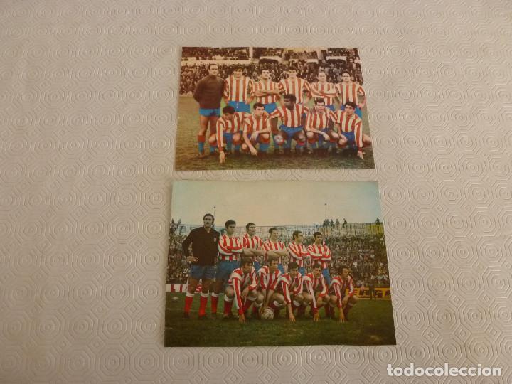 RECORTES SATINADOS EQUIPO AT.MADRID CAMPÉON LIGA TEMPORADAS 65-66 Y 69-70. (Coleccionismo Deportivo - Revistas y Periódicos - otros Fútbol)