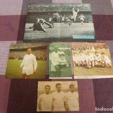 Coleccionismo deportivo: RECORTES SATINADOS REAL MADRID,KOPA,DI STEFANO,AMANCIO,GENTO,GROSSO Y VELAZQUEZ.. Lote 81650668