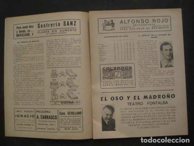 Coleccionismo deportivo: HISTORIA DEL SEVILLA CLUB DE FUTBOL-1905-1950 - EL BALON DICIEMBRE 1950 -VER FOTOS -(V-10.242) - Foto 5 - 81813680
