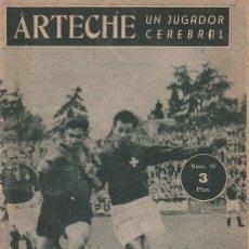 Collectionnisme sportif: COLECCION IDOLOS DEL DEPORTE - Nº 93 ARTECHE (UN JUGADOR CEREBRAL) 1958. Lote 83135772