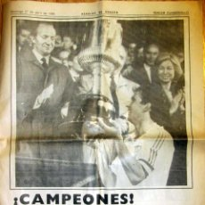 Coleccionismo deportivo: HERALDO DE ARAGON REAL ZARAGOZA CAMPEON COPA DEL REY 1986. Lote 83611836