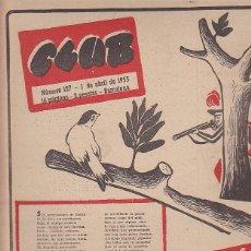 Coleccionismo deportivo: REVISTA CLUB Nº 127 1 ABRIL 1955. Lote 84728664