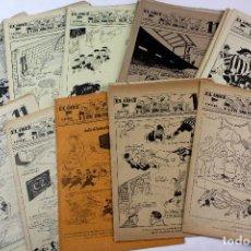 Coleccionismo deportivo: RV-57. EL ONCE. REVISTA HUMORISTICA DE FUTBOL. AÑO 1945. 41 REVISTAS. PRIMER AÑO DE PUBLICACIÓN.. Lote 85043820