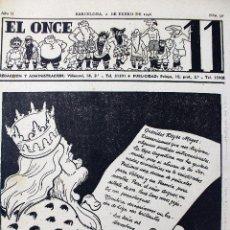 Coleccionismo deportivo: RV-61. EL ONCE. REVISTA HUMORISTICA DE FUTBOL. AÑO 1946. 51 REVISTAS. AÑO COMPLETO. Lote 85044548