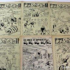 Coleccionismo deportivo: RV-138. EL ONCE. REVISTA HUMORISTICA DE FUTBOL. AÑO 1952. 44 REVISTAS.. Lote 85045356
