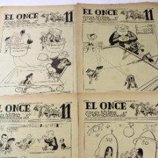 Coleccionismo deportivo: RV-110. EL ONCE. REVISTA HUMORISTICA DE FUTBOL. AÑO 1955. 52 REVISTAS. AÑO COMPLETO.. Lote 85052624