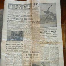 Collectionnisme sportif: *LUNES* SEMANARIO DE INFORMACIÓN GENERAL 11 ABRIL 1960 BARCELONA BARÇA VIRTUAL CAMPEÓN DE LIGA. Lote 85223816