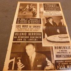 Coleccionismo deportivo: DICEN(22-4-65)COPA FERIAS ATH.BILBAO 2 FERENCVAROS 1,JOSÉ MICÓ(BOXEO)HOMENAJE A LEAN EN MONTSERRAT.. Lote 90355639